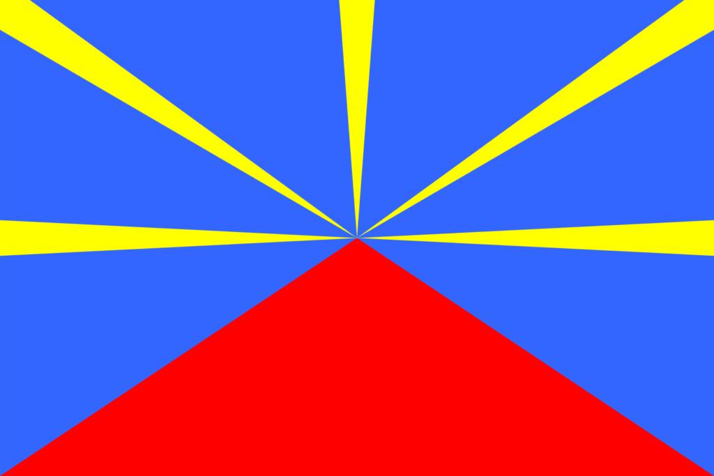 drapeau île de la réunion